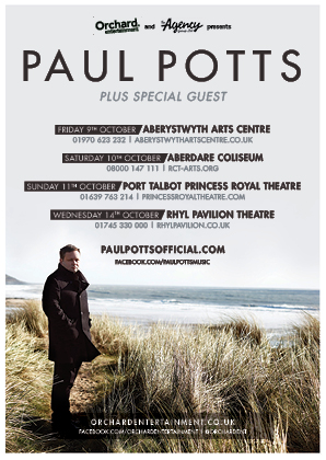 Paul Potts Comes Home To Play Wales This Autumn!